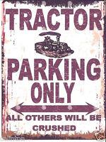 TRACTOR PARKING SIGN RETRO VINTAGE STYLE 6x8in 20x15cm garage workshop art