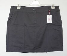 New Plus Size Chic Ladies Mini Stretch Summer Skirt in Anthracite Dark Grey 48