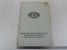 ALBUM PARTI DI RICAMBIO ORIGINALE 1926 CHASSIS FIAT 505 505F