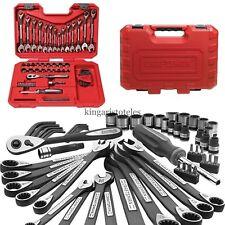 Craftsman 56 Pcs Mechanics Tool Set Universal SAE Metric Ratchet Socket Kit Case