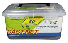 Fishing Cast Net Catch Bait Easy Throw 4' Radius Net = 8' diameter