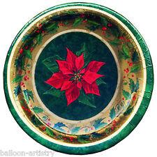 8 Christmas Seasonal Celebration Flower Party 26.6cm Disposable Paper Plates