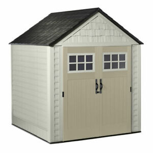 Rubbermaid 2035896 7x7 ft Big Max Outdoor Storage Shed