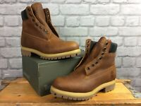 TIMBERLAND UK 8.5 EU 43 MENS HERITAGE BROWN BOOTS 6 INCH LEATHER RRP £190    KL