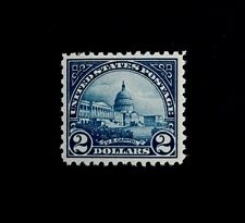 US Stamps, Scott #572 1923 2 Dollar US Capitol VF/XF+ M/NH. A gorgeous specimen