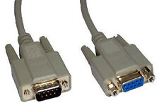 2m 9 Pin Serial RS232 Com Male to Female Extension Cable Lead 232 Plug - Socket