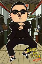 Gangnam Style Psy Animated Poster Print, 22x34
