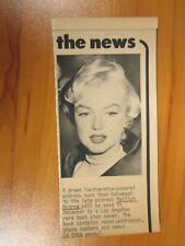 Vintage AP Wire Press Photo Actress Marilyn Monroe, Some Like it Hot, Misfits #4