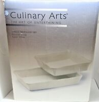 Culinary Arts, The art of entertaining 2 piece bakeware set. Pure White.B304