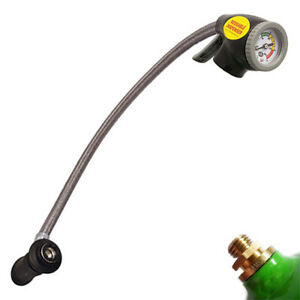 STP REUSABLE AIR CON TRIGGER GAUGE WITH EXTRA LONG FILLING HOSE CAR A/C RECHARGE