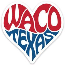 "3"" Waco, Texas, Heart Of Texas Sticker"