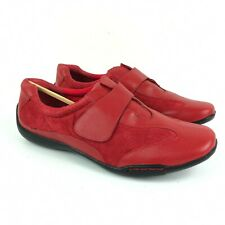 Dr Scholls E7K-25 Womens Red Leather Strap Comfort Shoe Loafer Size 11 M