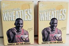 2 - MICHAEL JORDAN Chicago Bulls Mini Wheaties Cereal General Mills Sample Box