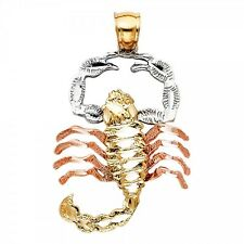14K Tri Color Gold Scorpion Pendant GJPT1584