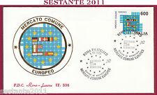 ITALIA FDC ROMA LUXOR 534 MERCATO COMUNE EUROPEO 1992 ANNULLO ROMA FILATEL. S133