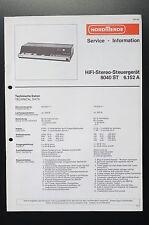 NORDMENDE HIFI-STEREO-STEUERGERÄT 8040 ST Service-Manual/Info/Schaltplan! o33