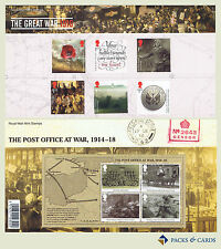 2016 The Great War 1916 Stamps in Presentation Pack PP500 (no. 527) Reprint
