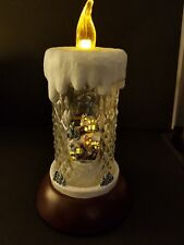 Thomas Kinkade All is Bright Candle Plays 8 songs Batteries Lighted Christmas