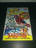 Marvel X-Force and Spider-Man: Sabotage - 1st Printing Graphic Novel - VF/NM