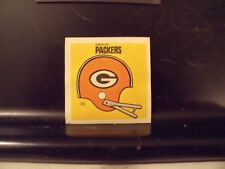 1977 NFL Football Helmet Sticker Decal Greenbay Packers Sunbeam Bread