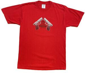 Vintage Senses Fail Band T Shirt Handgun Punk Hardcore Adult Size Large Red