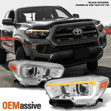 Fits 16-18 Toyota Tacoma TRD Limited Sequential LED Square Projector Headlights