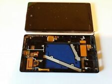 GLS DISPLAY LCD+ TOUCH SCREEN+COVER FRAME per NOKIA LUMIA 930 NERO VETRO RICAMBI