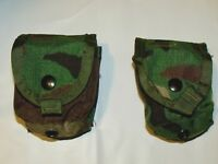 2 NEW US Military Army Surplus Woodland Camo MOLLE Frag Grenade Utility Pouch