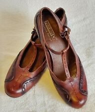 Pikolinos Women's Shoes Heels Leather Brown Black Mary Jane 8.5 US Pumps
