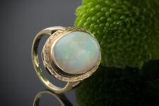 Schmuck Schimmernder Ring mit großem Opal in 585er Gelbgold 14 Karat Gold