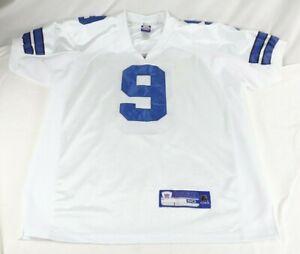 Dallas Cowboys Tony Romo #9 Sewn Authentic Reebok Jersey Size 50 White Blue
