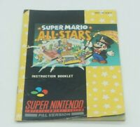 Super Mario All-Stars MANUAL ONLY - Super Nintendo SNES Console, 1993 AUS CODED
