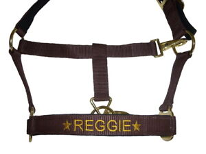 Personalised Embroidered Padded Headcollar with Star Motifs All Sizes From £9.90