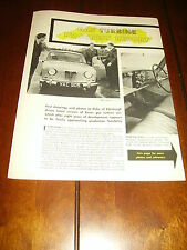 1958 ROVER TURBINE JET CAR  ***ORIGINAL VINTAGE ARTICLE***