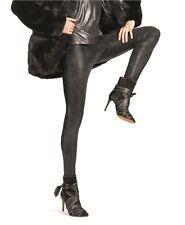 HUE U15606 Black Shimmer Stretch Microsuede Leggings - MSRP $58