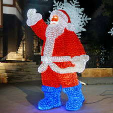 2M MAINS OUTDOOR GARDEN SANTA FATHER CHRISTMAS XMAS LED LIGHT FIGURE DECORATION