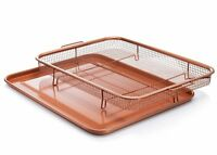 Gotham Steel Copper Crisper Tray XXL - AIR FRY IN YOUR OVEN - 2 Piece Set, NEW!