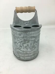 New Autumn Alley Rustic Galvanized Hinged Toothbrush Holder