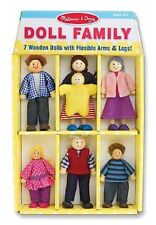 Melissa & Doug Wooden Doll Family #2464  BRAND NEW