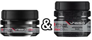 Vasso Styling Hair Gel The Rock Mnemonic Gum 250ml & 500ml - Ultra Strong Hold.