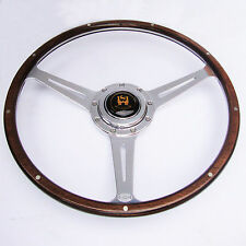 "Wolfsburg Steering Wheel T2 Wood Rim Bay Window VW Early Camper 16""  AAC174"