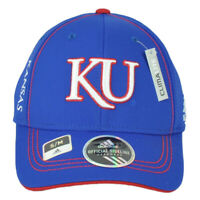 NCAA Adidas Kansas Jayhawks TW36Z Flex Fit Small Medium Hat Cap Blue Stretch