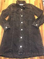 Zara Girls Black Denim Dress Age 8 Excellent Condition