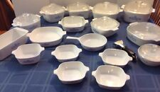 28 Piece Lot Corning Ware Blue CORNFLOWER LOT-PYREX-STOVETOP & OVENWARE W/LIDS