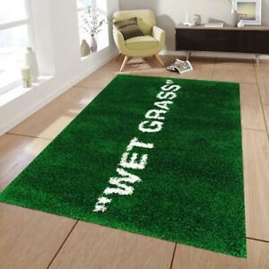 Wet Grass Rug 2, Fan Carpet Non Slip Floor Carpet,Teen's Rug,Area Rug
