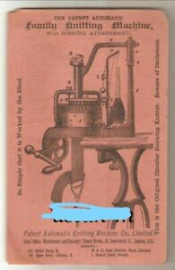 Textile Sock KNITTING MACHINE Brochure AD 1885 OLD Simple can be worked blind !