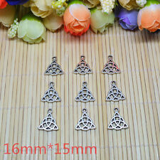 20pcs-triquetra trinity celtic knot pagan Tibetan Silver Bead charms Pendants