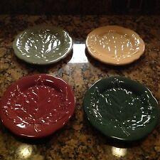 Longaberger Pottery Falling Leaves Plates Set of 4