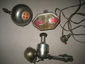 LOT Schwinn ding dong bell,Turn Signals w/Switch Soubitez 89 generator w/light
