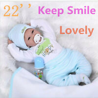 22'' Handmade Lifelike Newborn Silicone Vinyl Reborn Baby Doll Soft Full Body